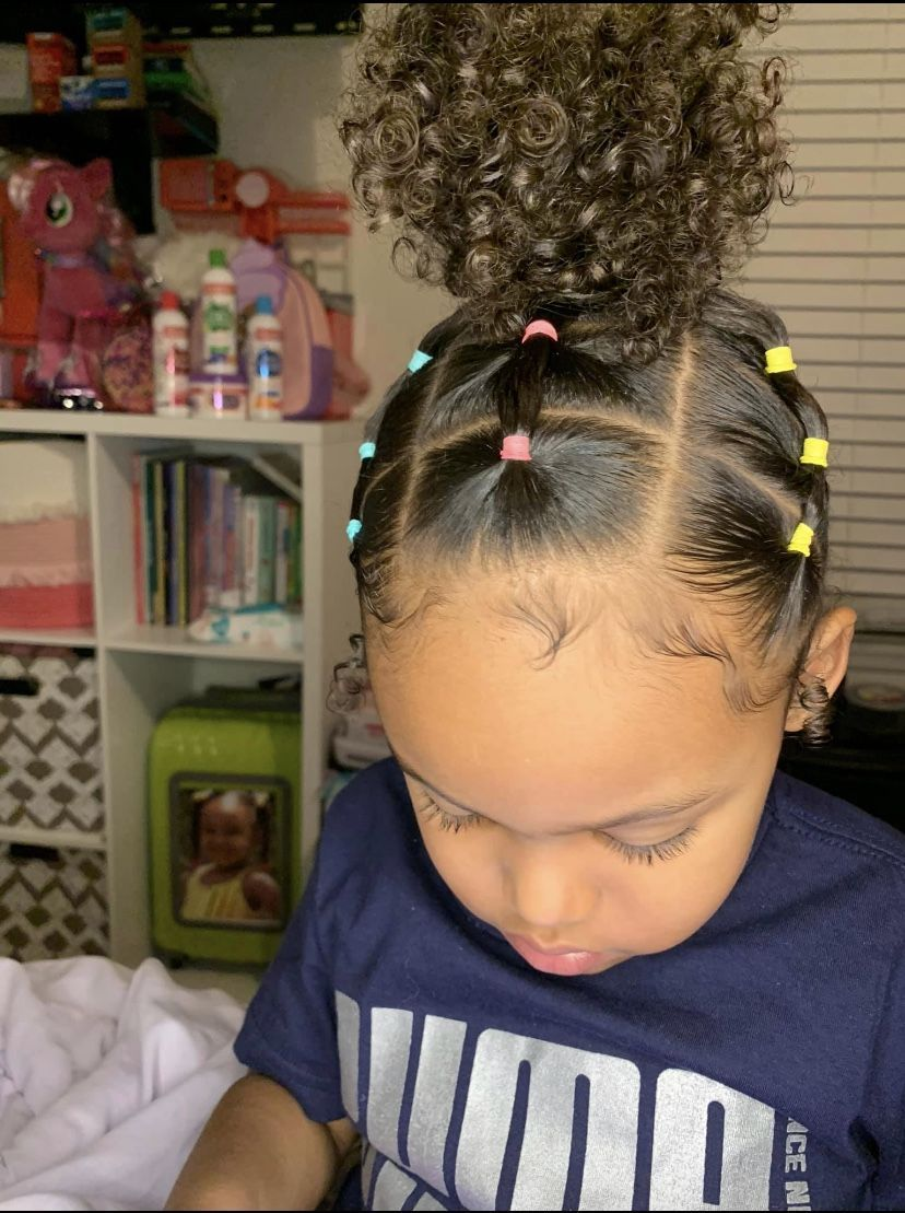 Baby Girl Hairstyles in 11  Kids curly hairstyles, Kids
