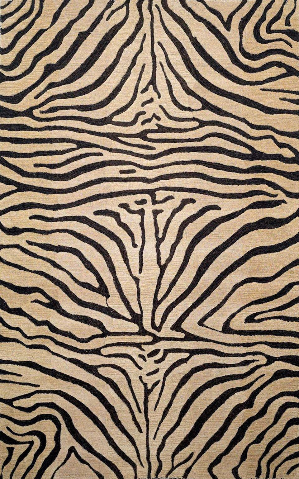 "Zebra Neutral 42"" x 66"" Indoor Rug"