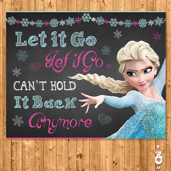 Printable Frozen Let it Go Chalkboard Elsa  by CoolEtsyPrintables