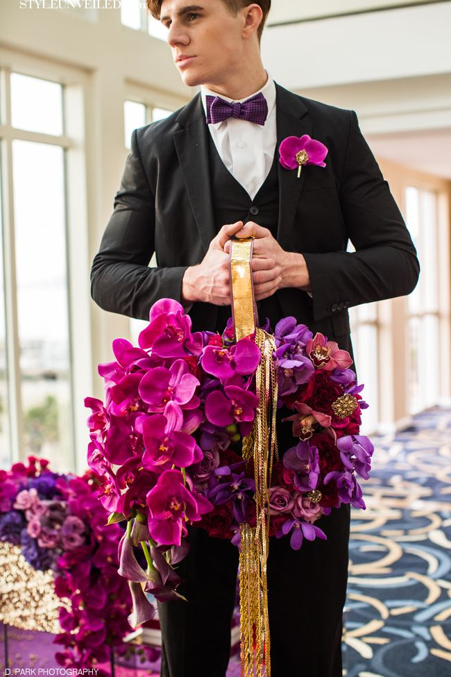 Radiant Orchid Bouquet / Shawna Yamamoto Design / D. Park Photography