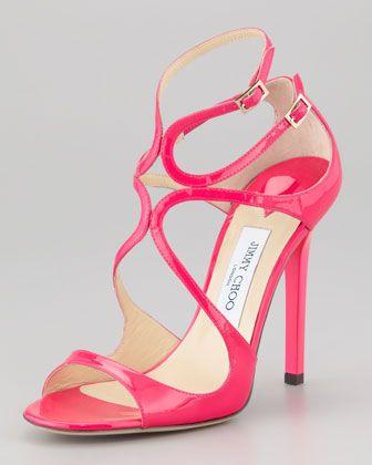 3d504721fc8a Lang Patent Strappy Sandal Fuchsia | Shoes & Fashion | Jimmy choo ...