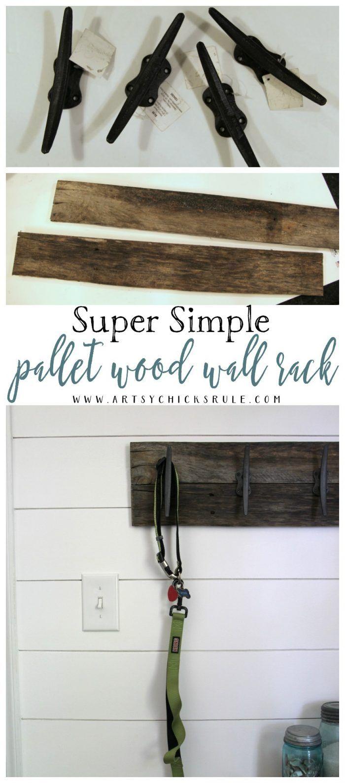 Easy Diy Nautical Pallet Wood Coat Rack Simple Project Pallet Home Decor Wood Pallet Projects Wood Pallets
