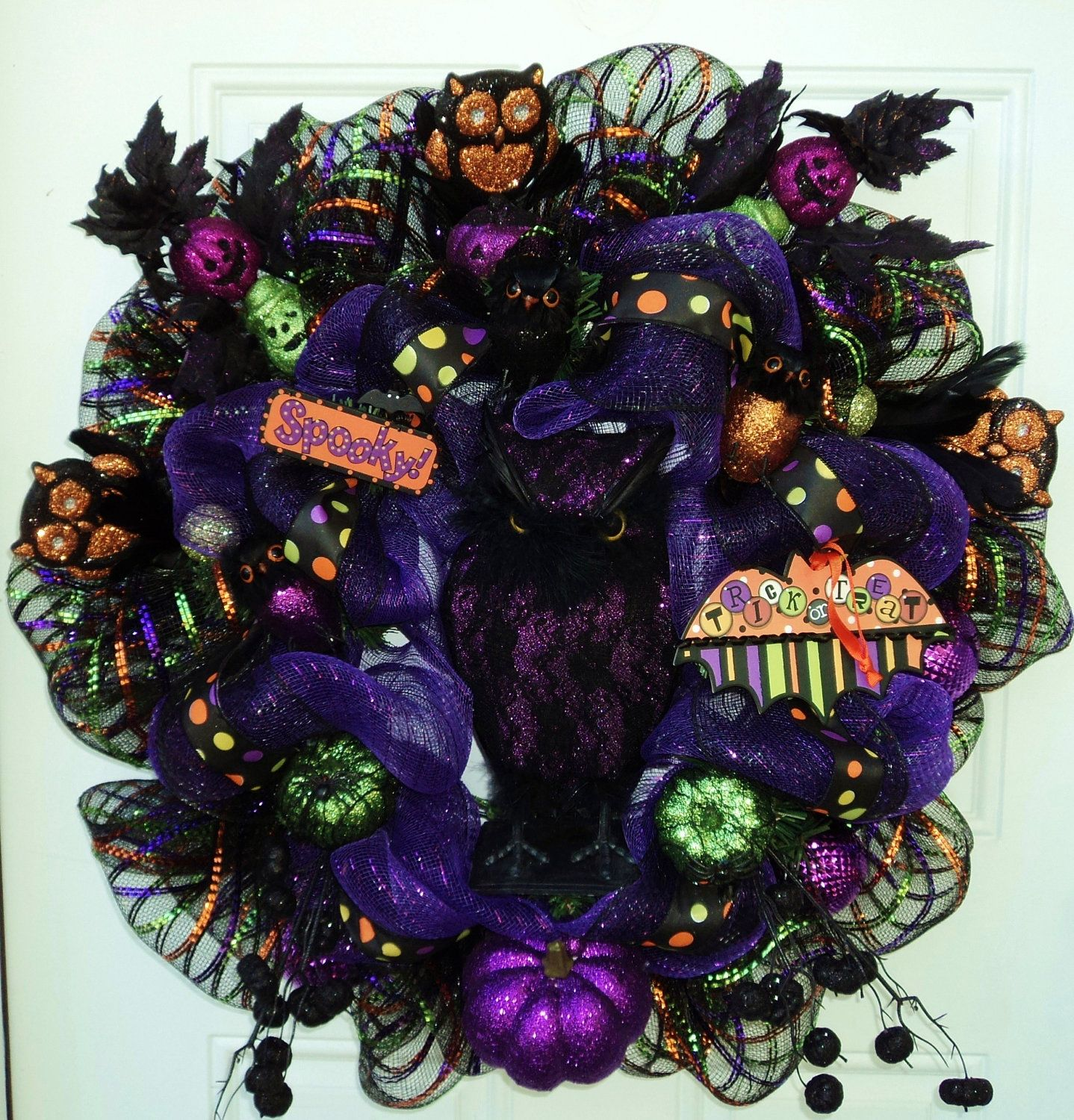 Make Halloween Wreath