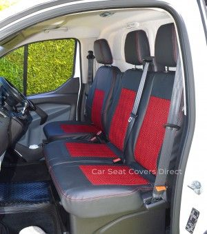 Ford Transit Custom Black Red Mosaic Centre Panels With
