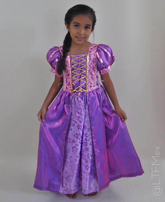 Princesa Rapunzel Vestido Princesa Rapunzel Traje Vestido