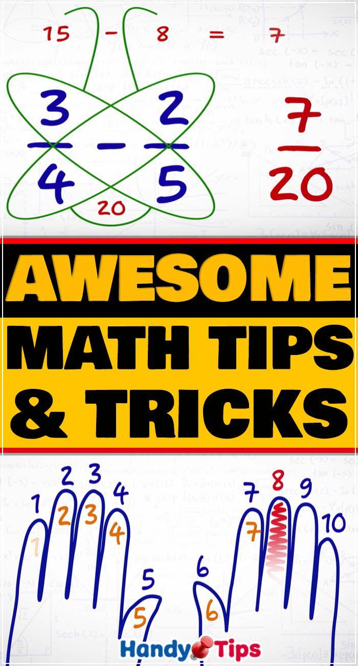 Awesome Math Tricks Math Tricks Math Simple Math Easy learn addition math tricks
