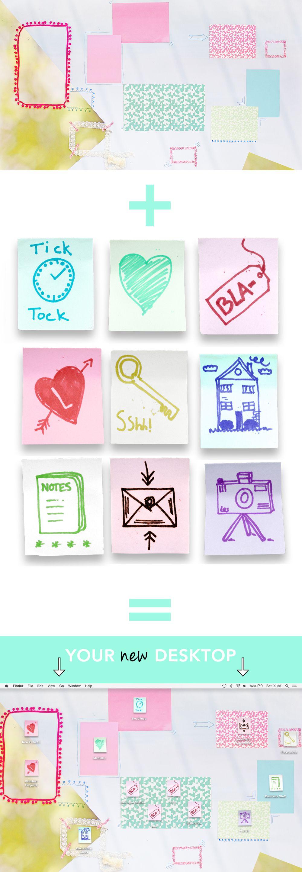 TECH Desktop icons, Graphic design fonts, Folder icon