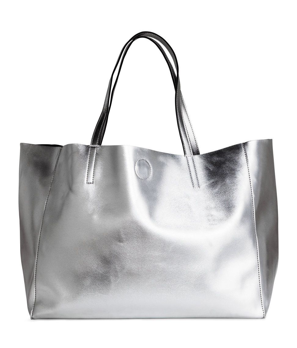 Large Silver Tote   H M Accessories   H M ACCESSORIES   Bags ... ac48ebaabd