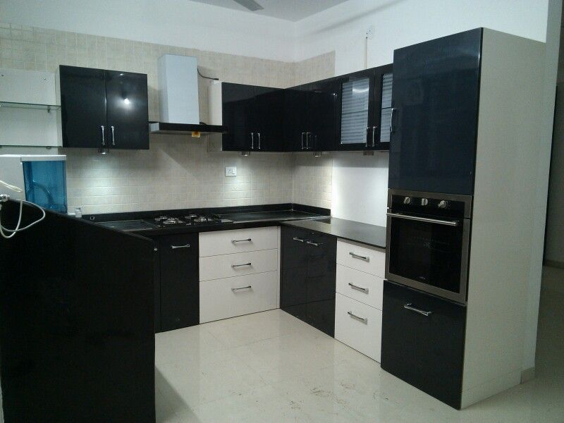 Download Wallpaper Black And White Kitchen Set