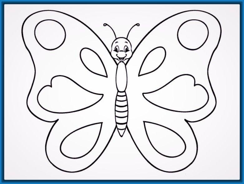 Sencillos Mariposas Para Colorear Dibujos De Mariposas