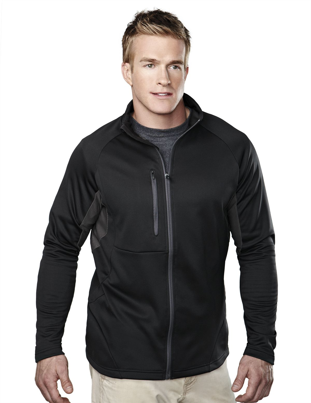 Men's Fleece Long Sleeve Jacket (100% Polyester). Tri mountain 7359 #Jacket #Fleece #Polyester