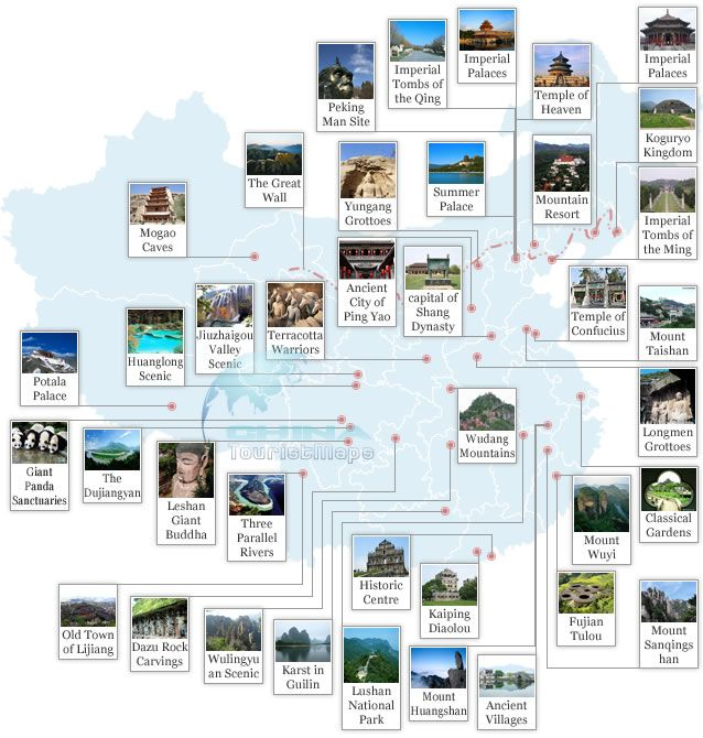 Map of world heritage sites in china china maps pinterest map of world heritage sites in china gumiabroncs Image collections