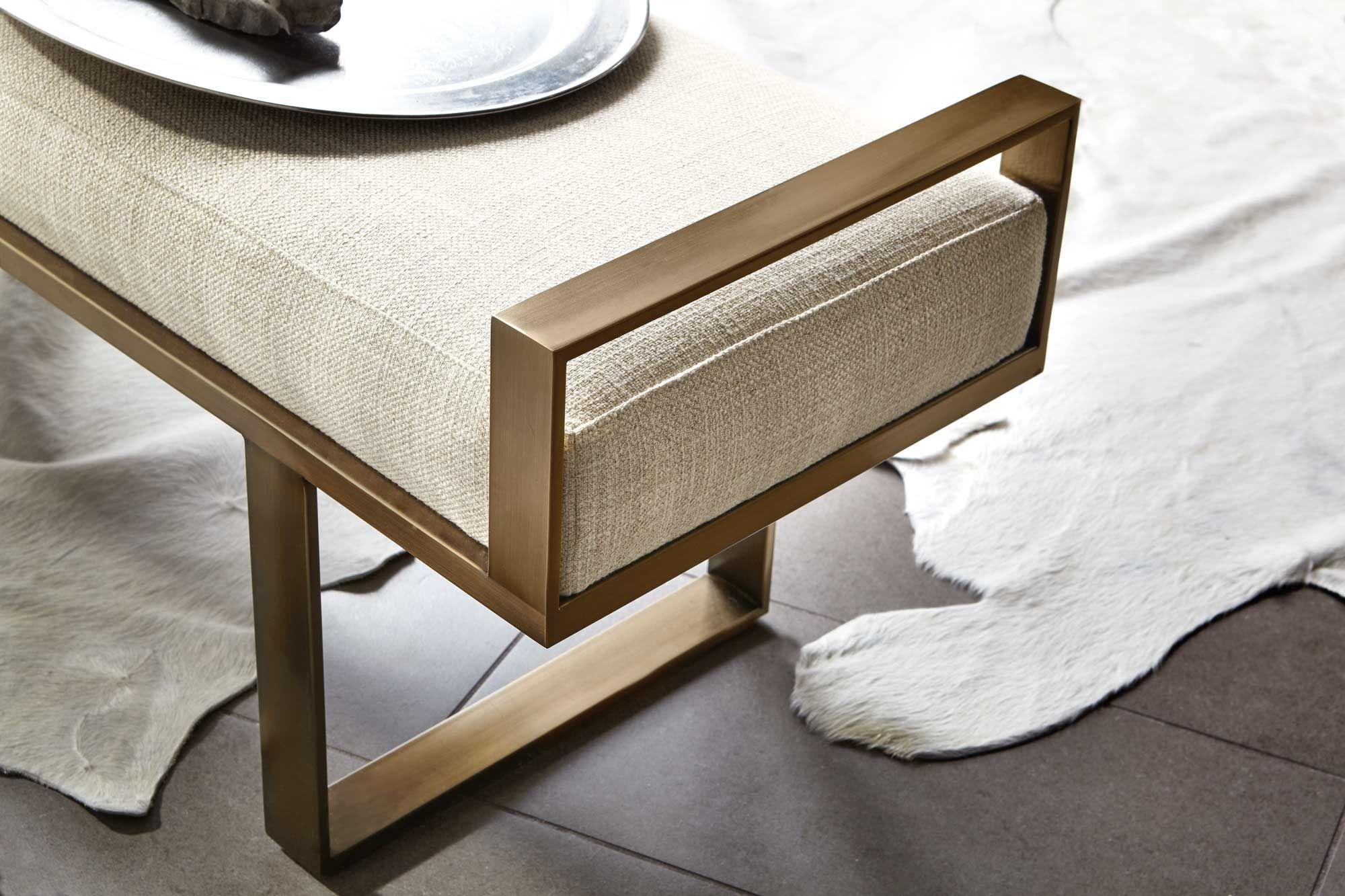 Metal Bench Bernhardt In 2020 Furniture Upholstered
