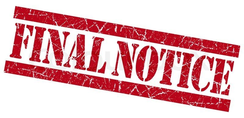 FINAL NOTICE for your DISCOUNTED lowest rates you will
