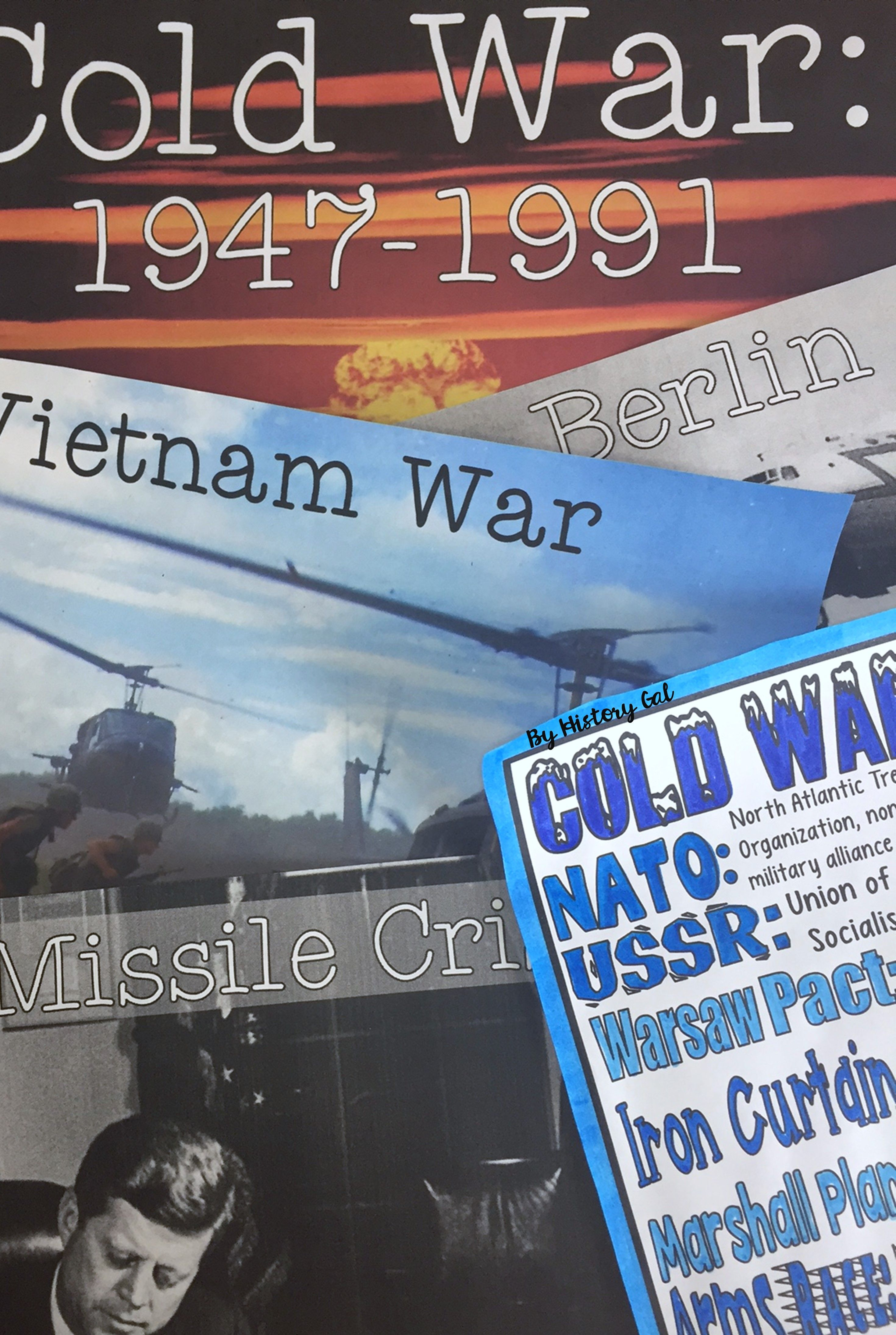 Cold War Coloring Page and PowerPoint | Cold war, High school and ...