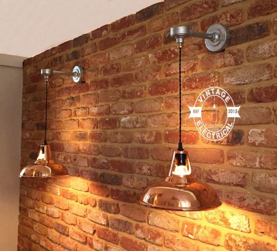 The Sedgeford Copper Coolicon Industrial Wall Light Factory Shade Light Dining Room Kitchen Table V Copper Wall Light Copper Shade Light Industrial Wall Lights