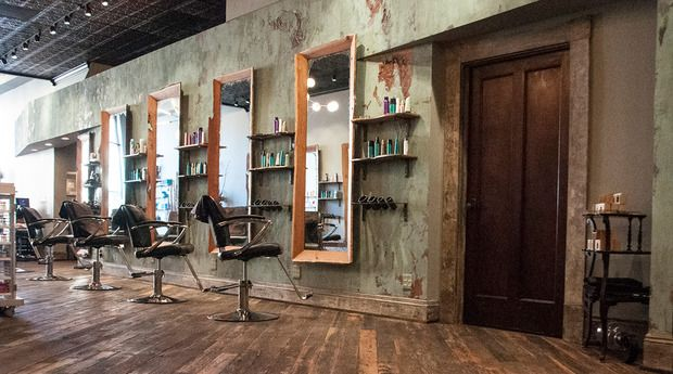 The salon takes great pride in its space showcasing for Modern salon stations