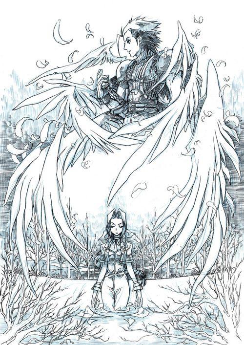 Aerith Zack Final Fantasy Vii Commission Nightmaresoulja By Eguana Final Fantasy Art Final Fantasy Vii Final Fantasy