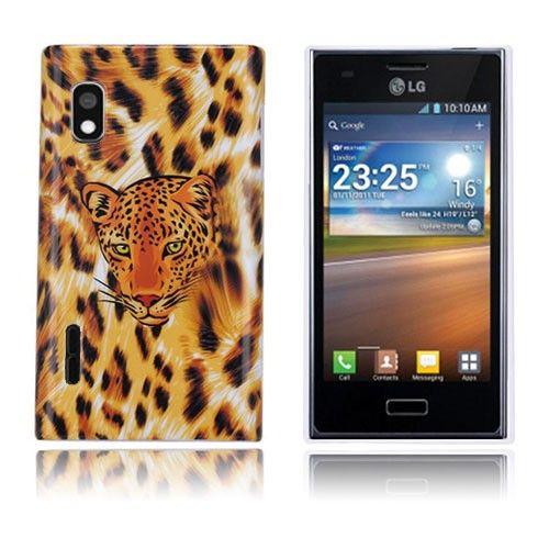 Leopard (Oranssi) LG Optimus L5 Suojakuori