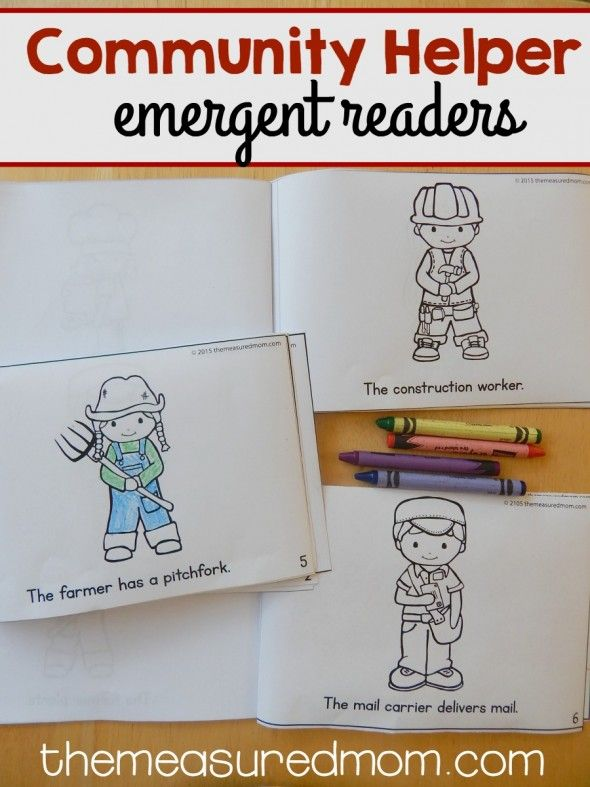 This Set Of Community Helpers Emergent Readers Comes In Three Levels Difficulty Theyre Perfect For Differentiating Preschool Or Kindergarten