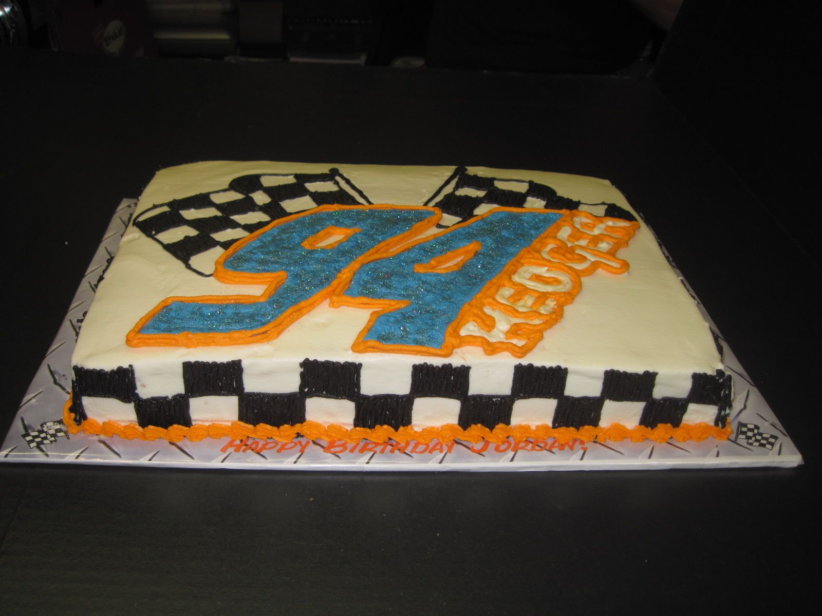 Cake Decorating Checkered Flag : Jordan Hedger Racing. checkered flag cake Sweet Southern ...