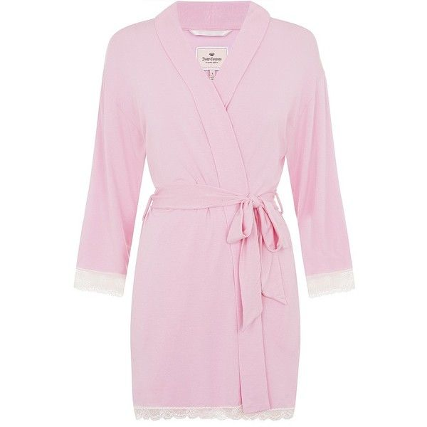 Juicy Couture Lace Trim Robe (395 ILS) ❤ liked on Polyvore ...