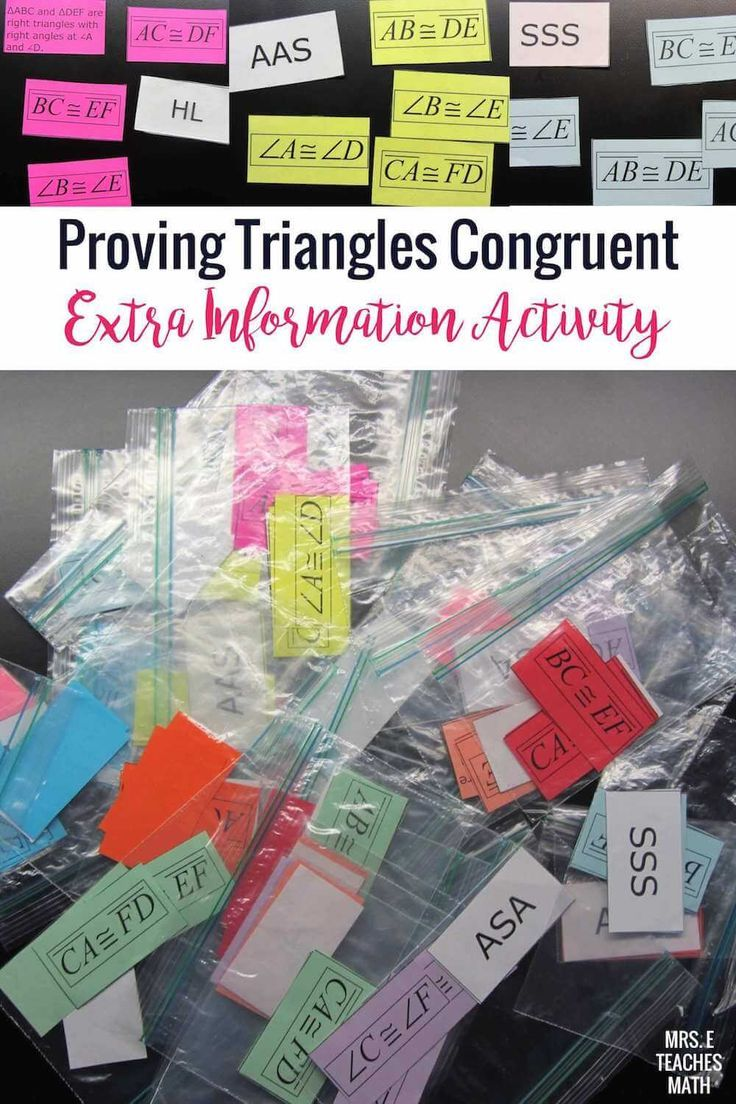 Congruent Triangles - Extra Information Activity | Worksheets ...