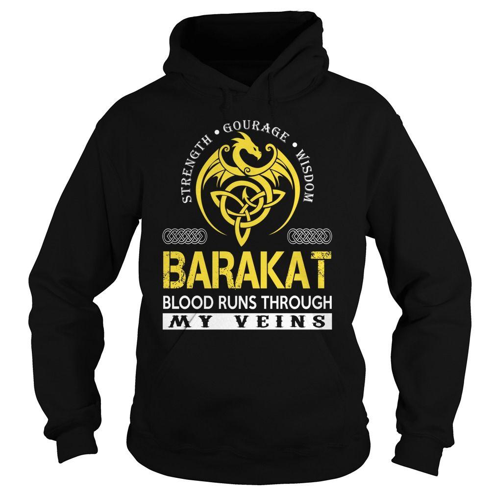 BARAKAT Blood Runs Through My Veins (Dragon) - Last Name, Surname T-Shirt