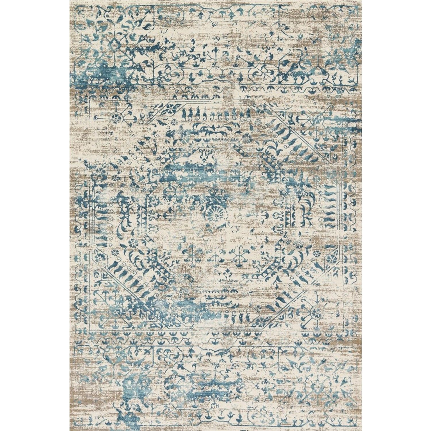Loloi Kingston Rug - Ivory/Blue