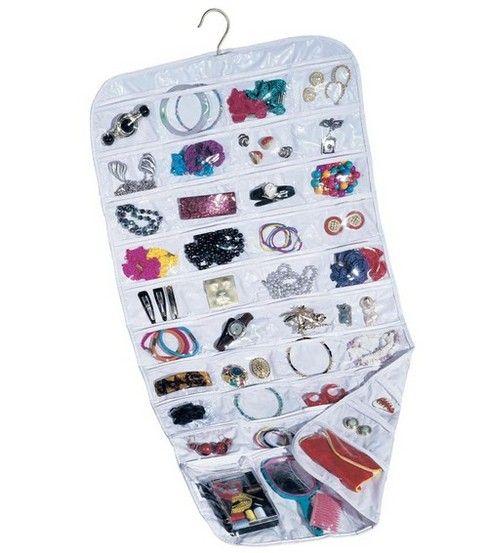 Household Essentials 80 Pocket White Ultra Jewelry Organizer
