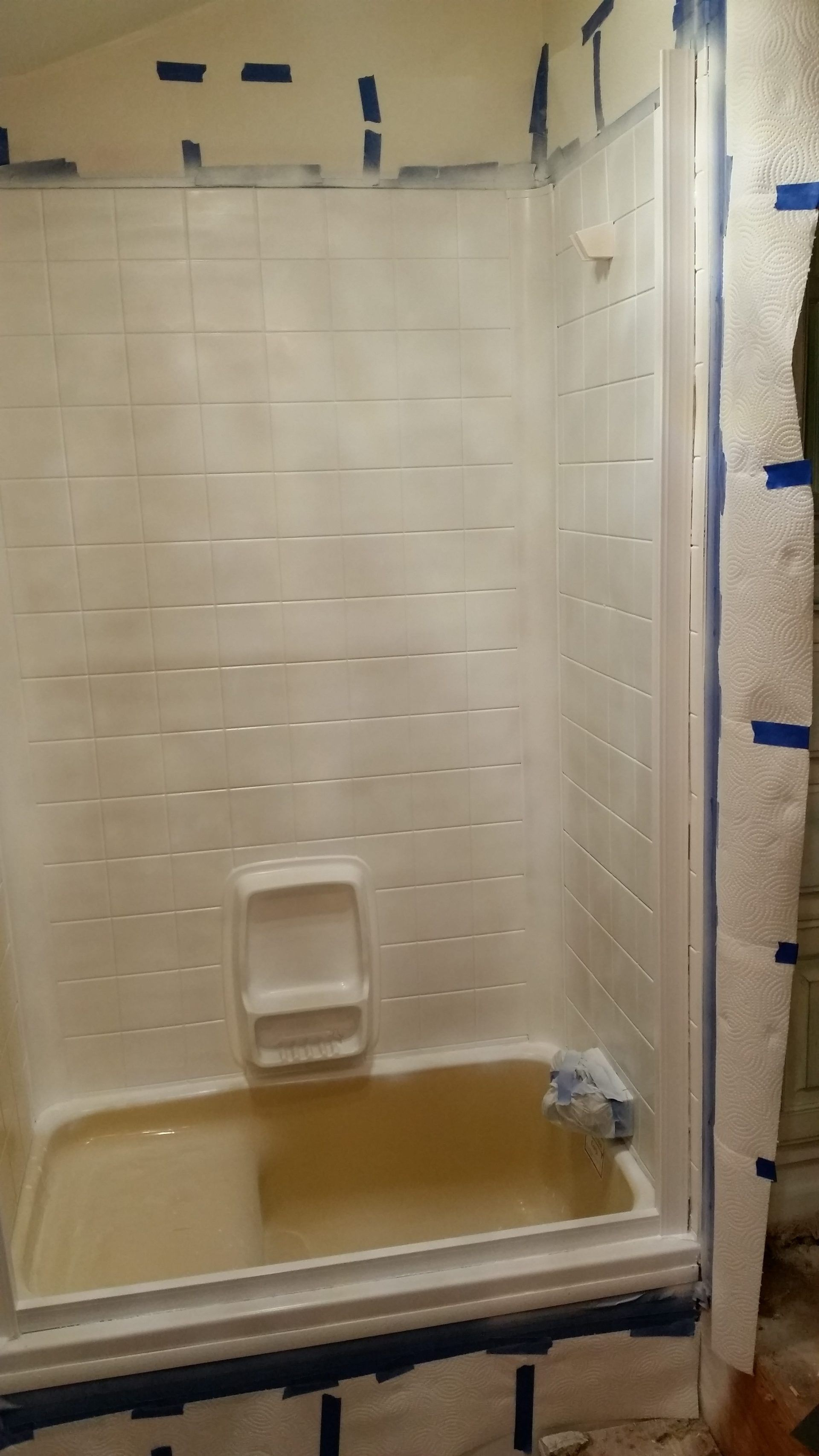 RV Bathroom Remodel - The Shower - Nurse Barb Blog - Before and ...