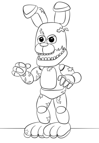 springtrap coloring pages FNaF Springtrap Coloring page | Five Nights at Freddy's  springtrap coloring pages