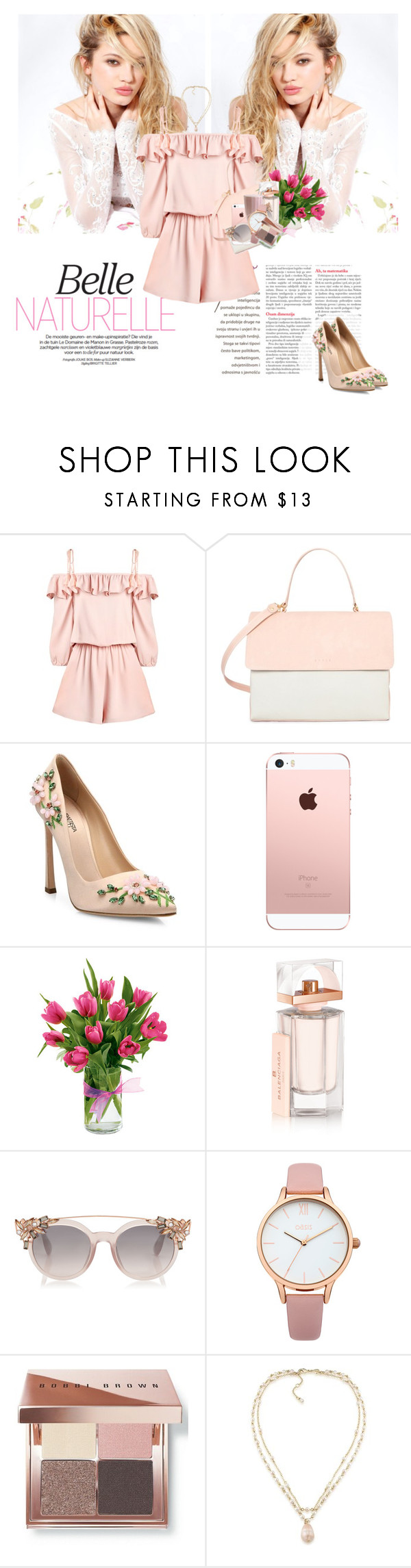 """New chance"" by ddaisy-271 ❤ liked on Polyvore featuring Silvana, Eddie, Giambattista Valli, Balenciaga, Oasis, Bobbi Brown Cosmetics and Carolee"