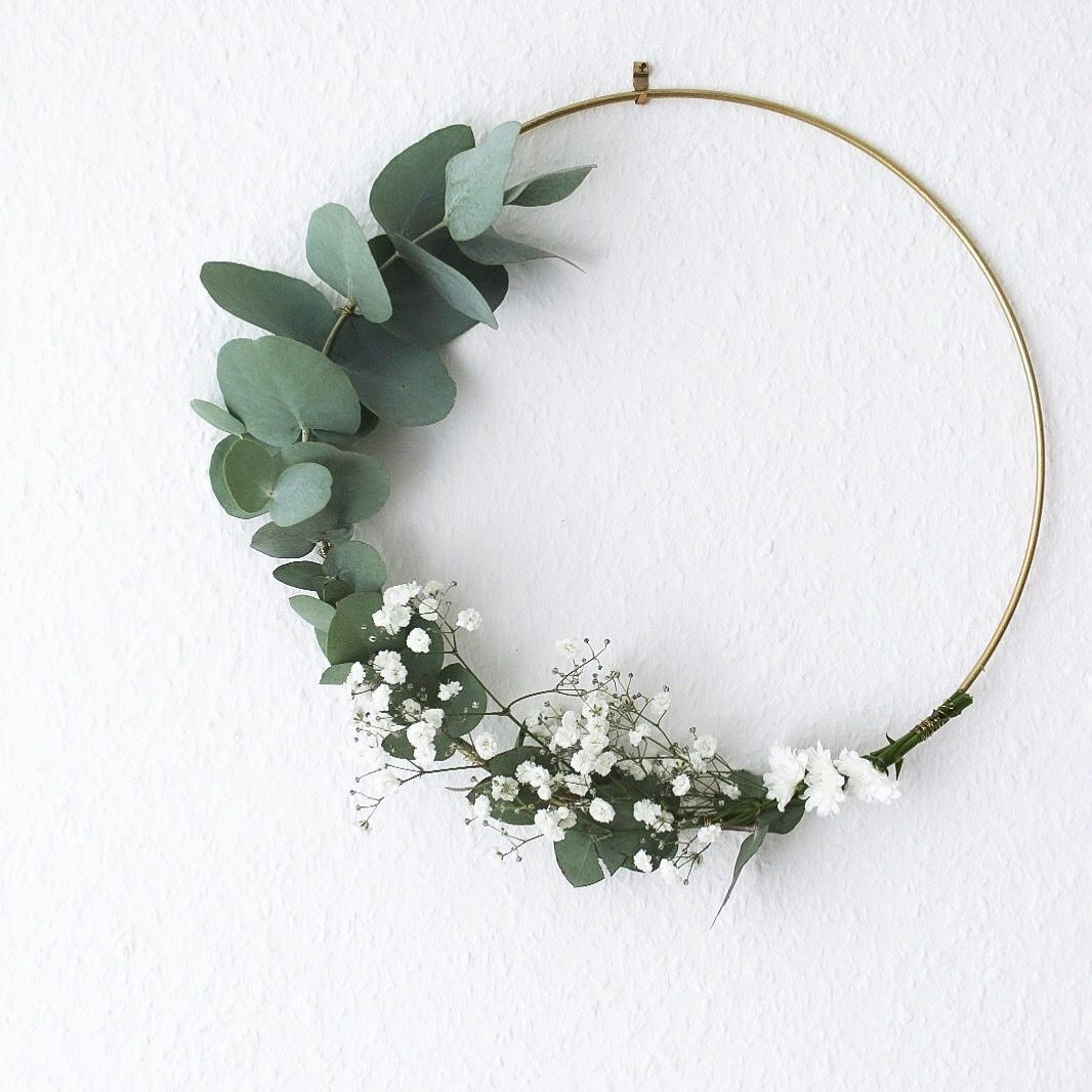Photo of Blumenring mit Eukalyptus | Wreath with Eukalyptus  #weihnachtendekorationwohnzi…