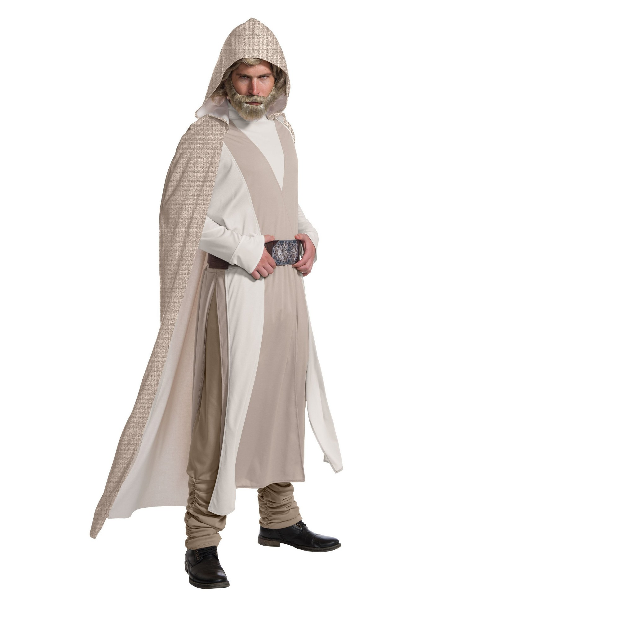 Jedi Knight Adult Luke Skywalker Force Awakens Costume Cloak Cosplay Wars Star