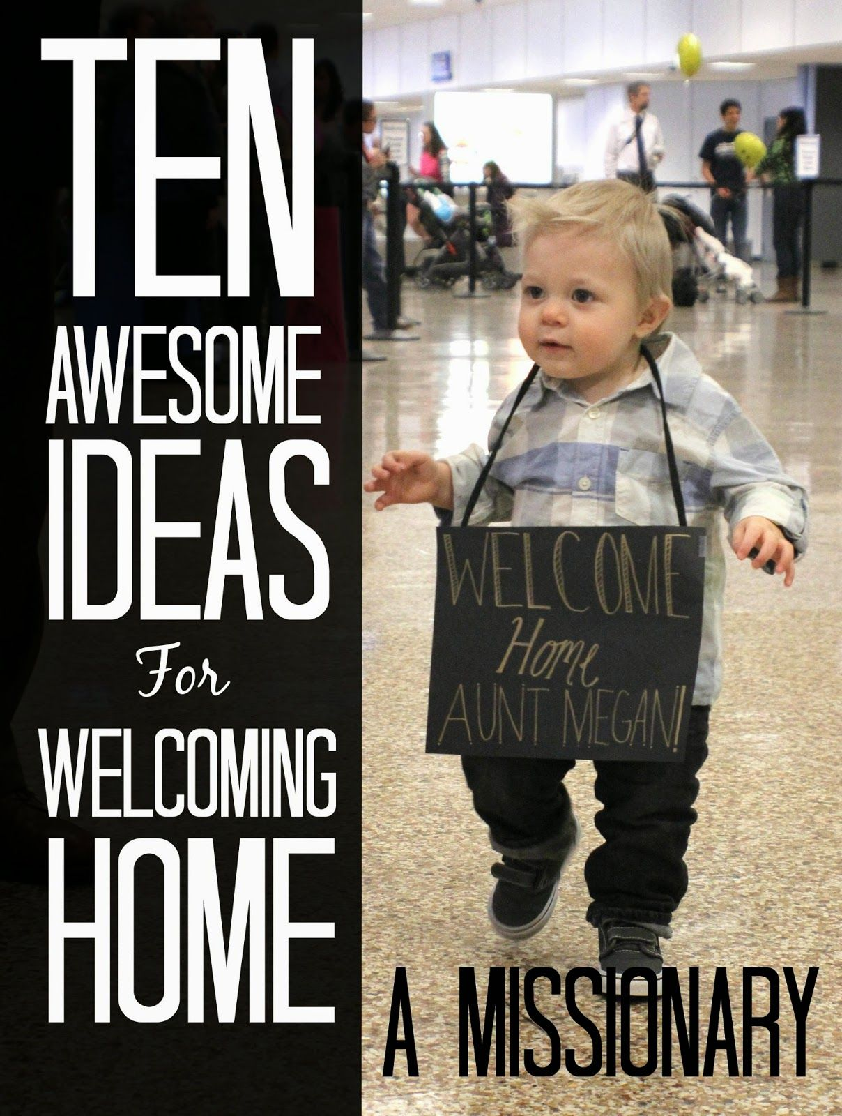 10 Awesome Ideas for Welcoming Home a Missionary is part of Welcome home Missionary - My sister is home!!! It was so fun going to the airport and seeing her come down with the group of missionaries she went out with  I loved seeing all the anxious parents (not to mention my own) with balloons, signs, banners, and flowers  After welcoming home my friends and family members from their two … Continue reading  10 Awesome Ideas for Welcoming Home a Missionary