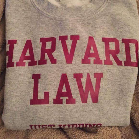 Noir et gris Just Kidding Pull unisexe HotScamp Harvard Law
