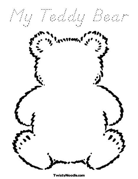 Teddy Bear Picnic My Teddy Bear Coloring Page