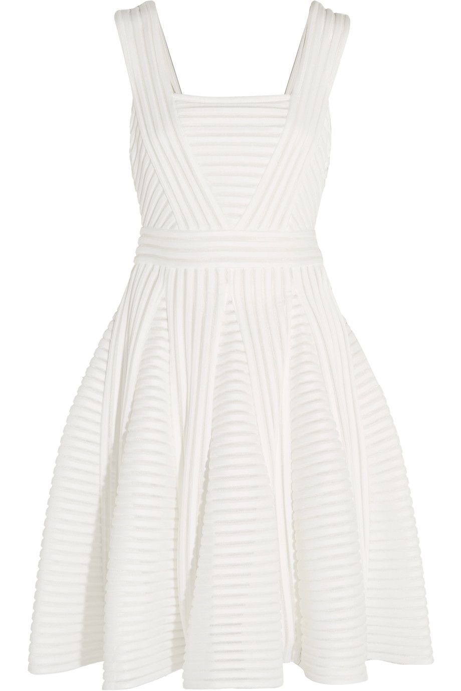 Pleated ribbed-knit dress | MAJE | Sale up to 70% off