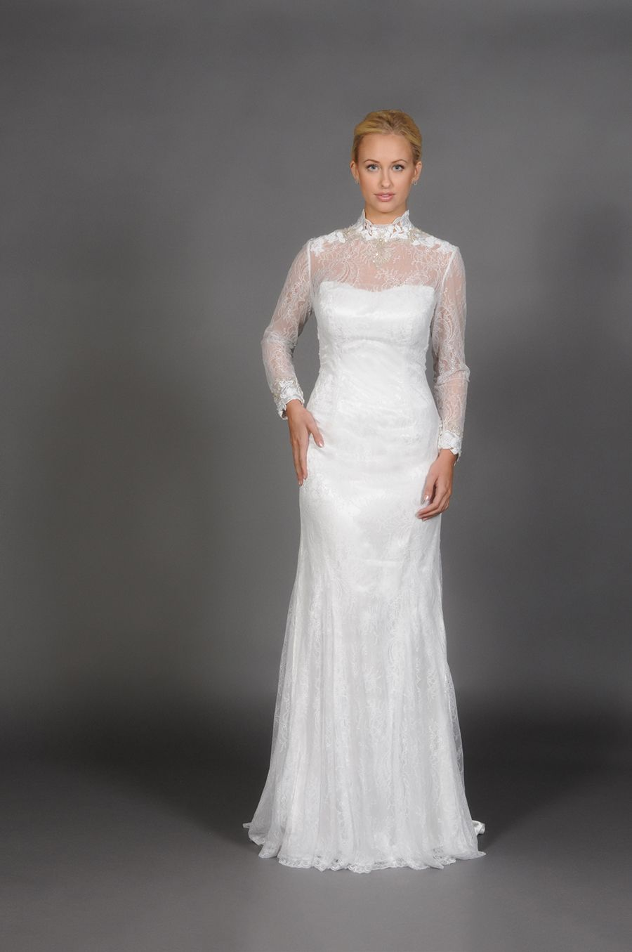 Wedding dress with short front and long back  Eugenia Couture
