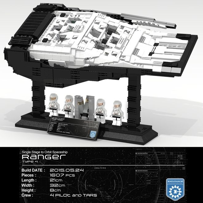 Lego Interstellar Movie Robot TARS CASE /& KIPP Custom Action Figures Not an official Lego product