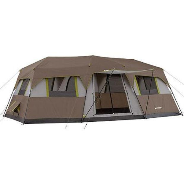 Ozark Trail 10 Person 3 Room Instant Cabin Tent Walmart Com Cabin Tent Tent Camping 10 Person Tent