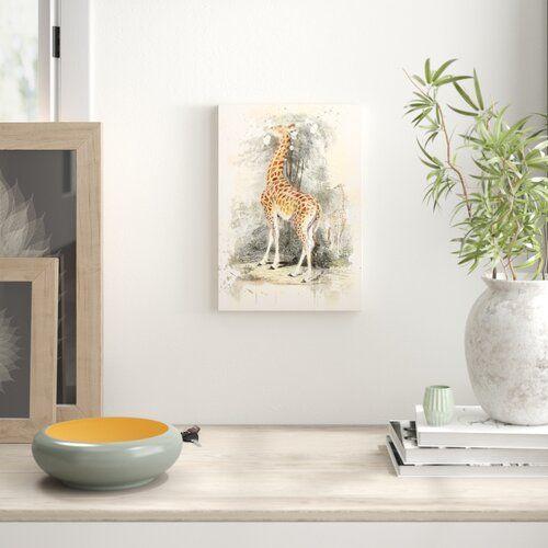 East Urban Home Leinwandbild Vintage The Animal Kingdom Giraffe | Wayfair.de #animalkingdom