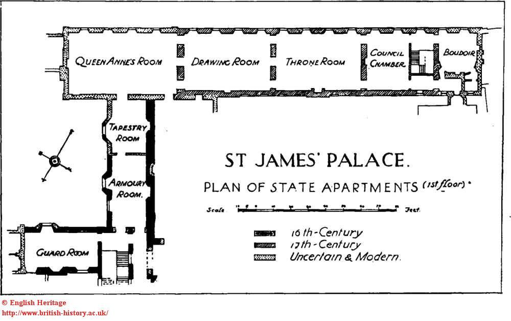 St James Palace Plan Of The State Apartments First Floor