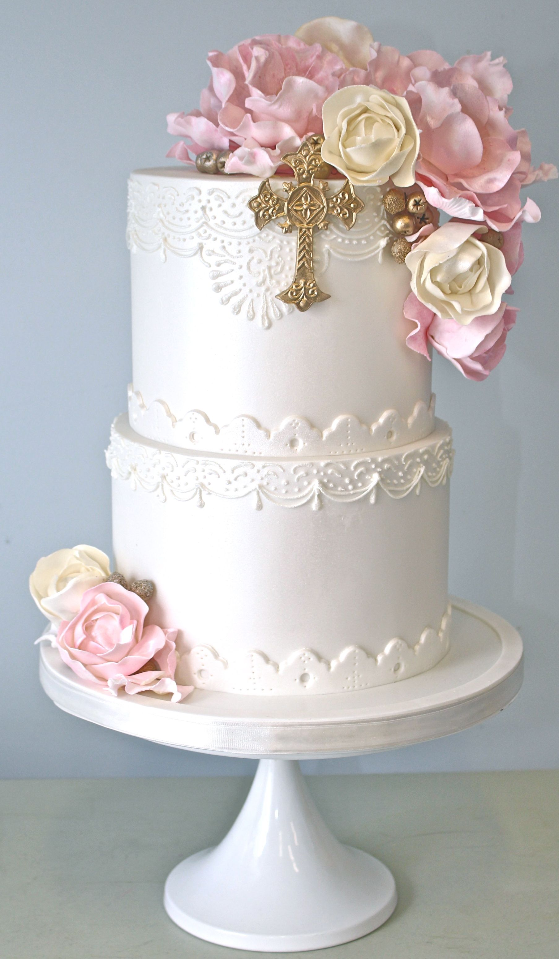 Pretty Parties - Custom Cakes CH-02 Christening / Communion