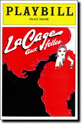 Playbill Cover for La Cage Aux Folles at Palace Theatre 1983-1987