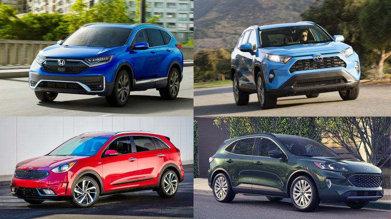 2020 Honda Cr V Hybrid Vs Toyota Rav4 Hybrid Vs 2020 Ford Escape