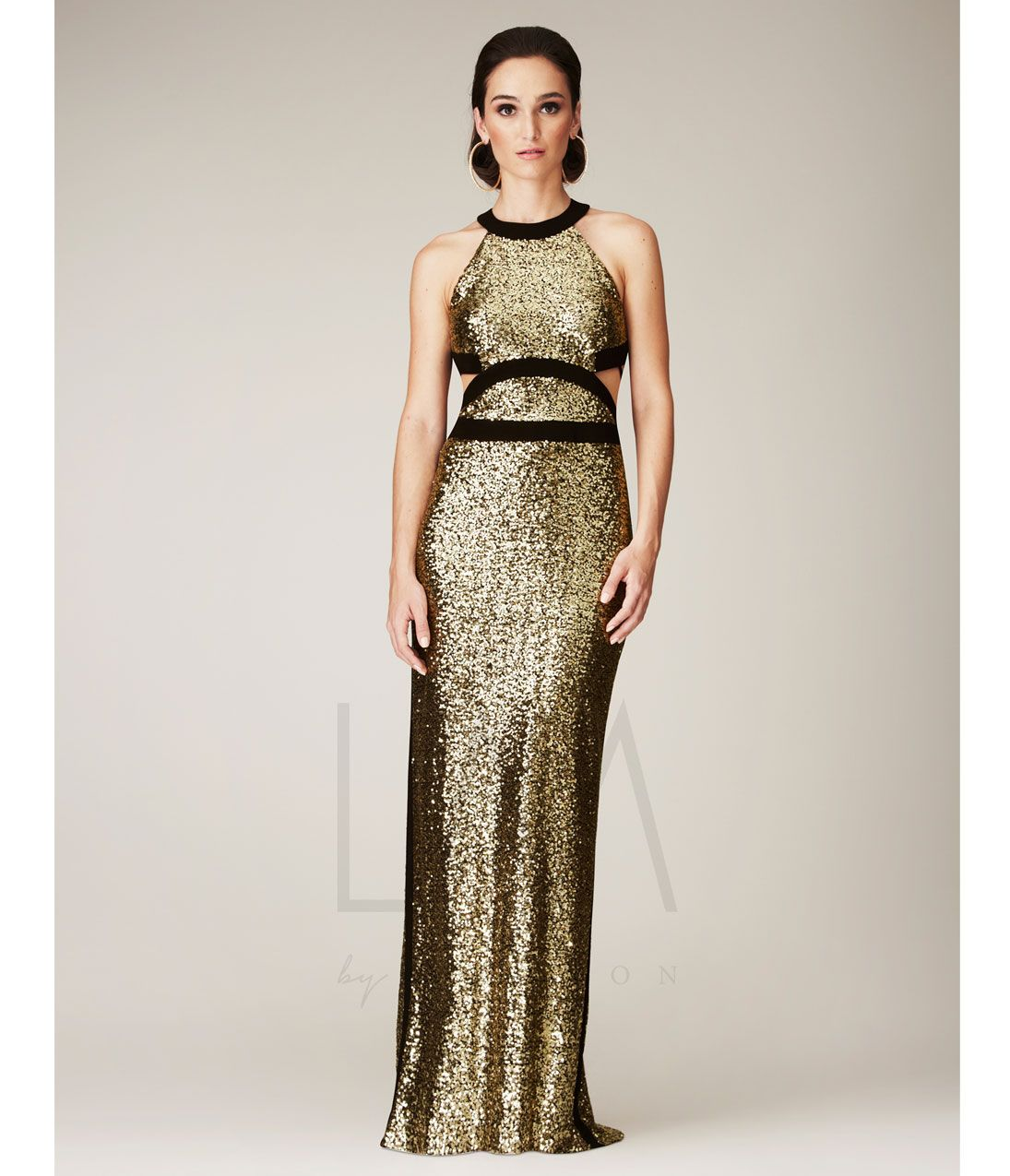 Unique vintage gold bridesmaid gowns black gold and spring
