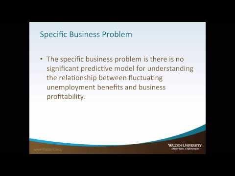 Walden Dba Problem Statement Tutorial Problem Statement Business Problems Unemployment Benefits