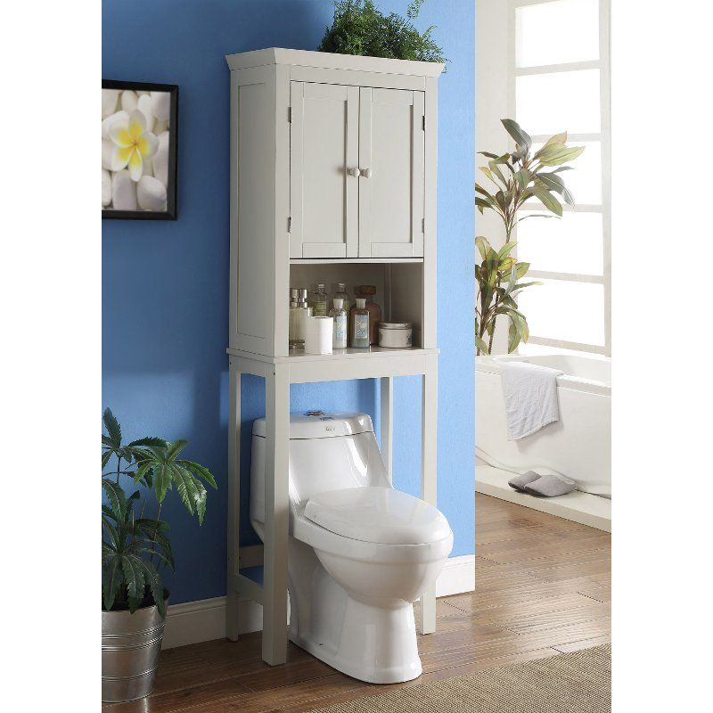 Vanilla Space Saver Cabinet Rancho Toilet Storage Bathroom Shelf Decor Over The Toilet Cabinet